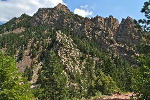 The Great Unconformity in Eldorado Canyon, Pennsylvanian Fountain Formation on top of the Proterozoic Coal Creek Quartzite