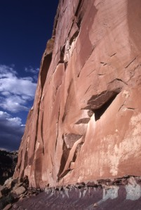 A picture from my first long-form field trip, Capitol Reef NP.