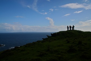 Field trip members at the end of a day along the Scottish Coast