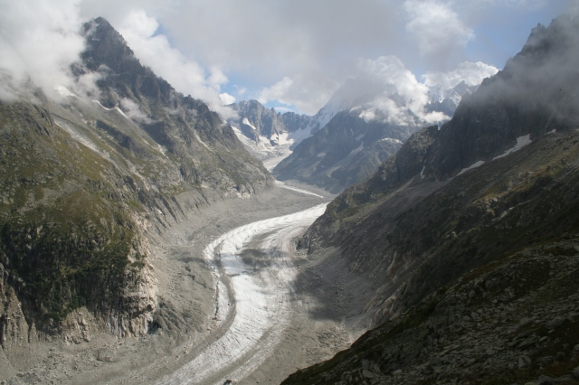 What is left of mer de glace a glacier north of chamonix the trim